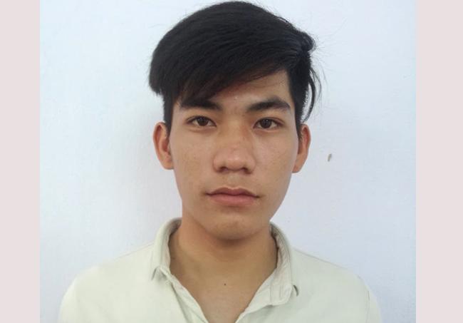 Nguyễn Công Toàn tại cơ quan điều tra. Ảnh: C.A.