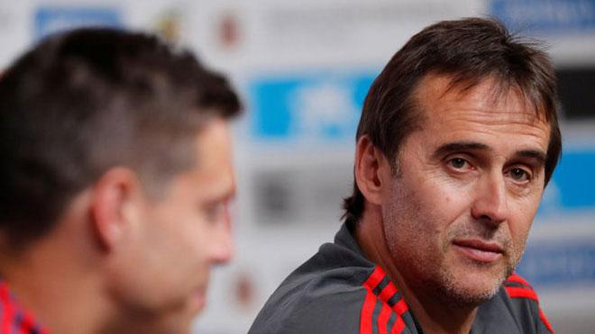 HLV Lopetegui bất ngờ mất việc trước ngày World Cup khởi tranh. Ảnh: NN.