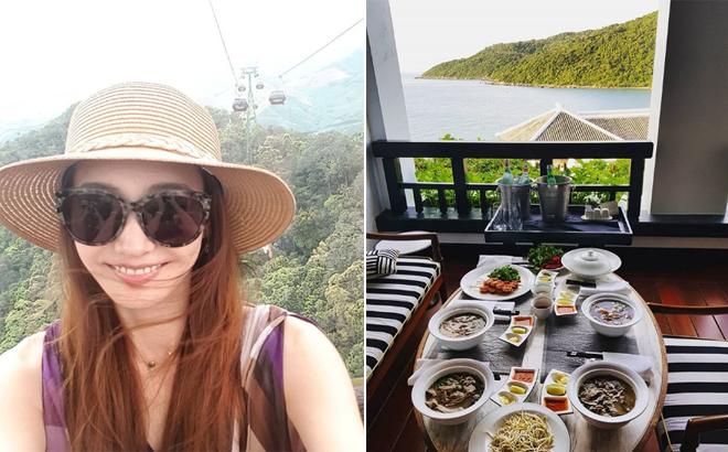 Loạt ảnh Han Chae Young chia sẻ trên trang cá nhân đã tiết lộ cô đang ở Đà Nẵng.