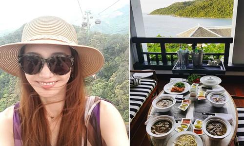 'Búp bê xứ Hàn' Han Chae Young khoe ảnh du lịch Bà Nà