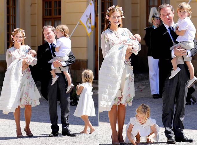 Công chúa Leonore không hợp tác trong ảnh gia đình. Ảnh: Mega.