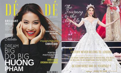Phạm Hương lên bìa tạp chí nước ngoài
