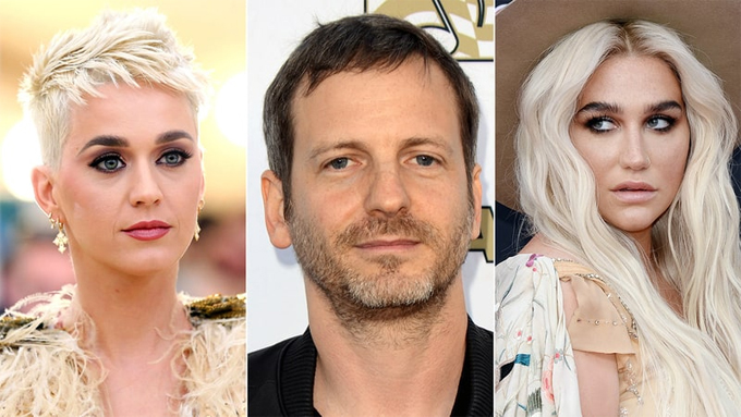 Kesha (bên phải) cáo buộc Luke cưỡng bức Katy Perry.