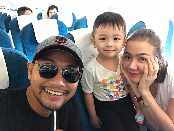 Huỳnh Đông - Ái Châu đưa con trai Happy đi Phú Quốc, bắt đầu chuyến nghỉ hè.