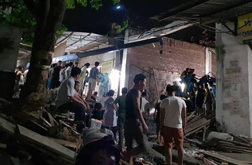 Căn nhà đang xây dựng khoảng 100 m2. Ảnh:Nam Nguyễn.