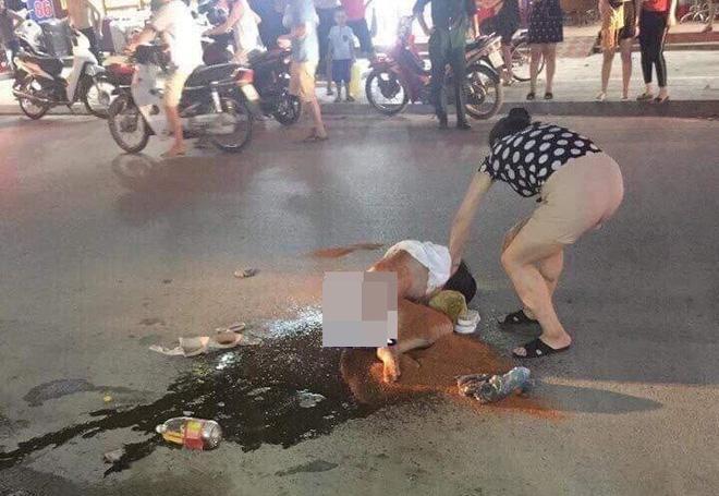 Hiện trường vụ đánh đập, bạo hành chị Lê trên phố Cao Thắng, TP Thanh Hóa.
