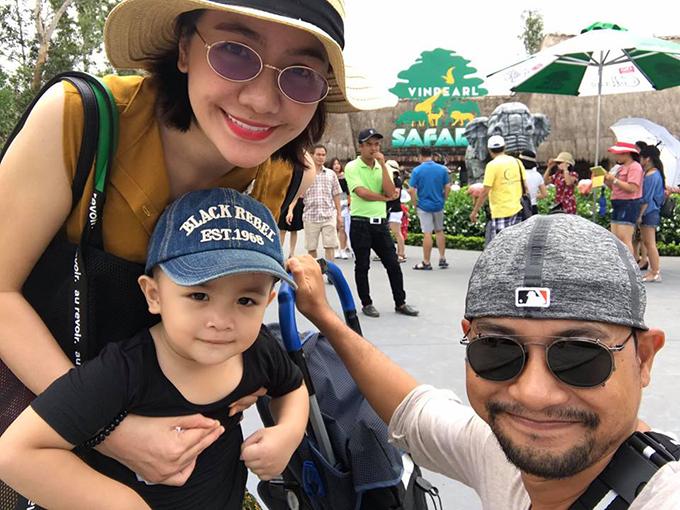 Gia đình Huỳnh Đông - Ái Châu tiếp tục chuyến hành trình ở Phú Quốc, thăm safari.