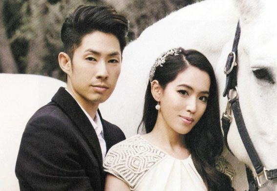 Ngô Kiến Hào và vợ trong ngày cưới.