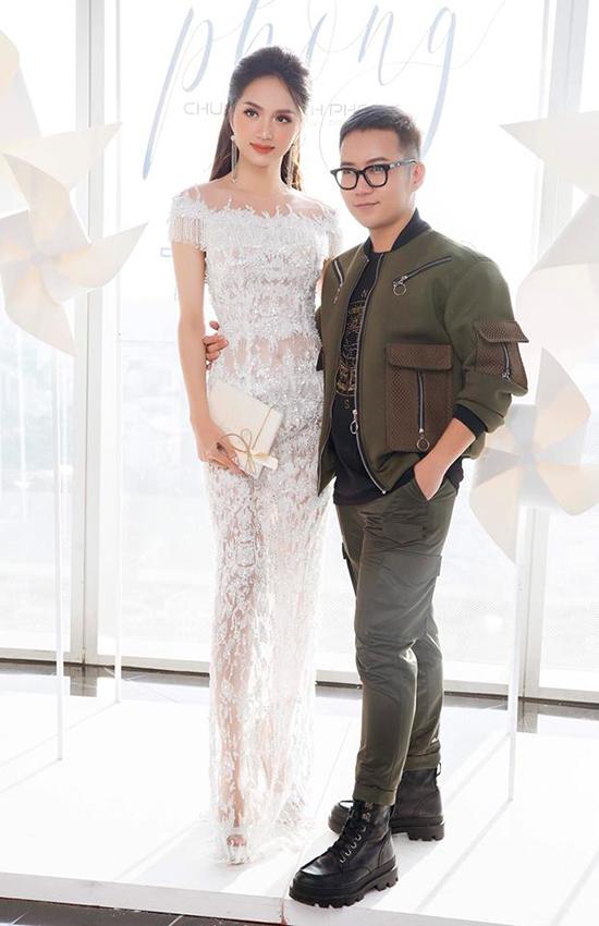 Hương Giang và nhà thiết kế Chung Thanh Phong.