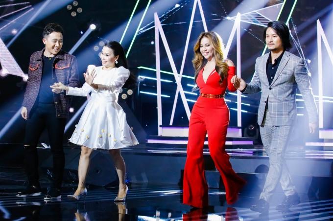 Trấn Thành, Cẩm Ly, Minh Tuyết và đạo diễn Hoàng Nhật Nam làm giám khảo Ca sĩ thần tượng.
