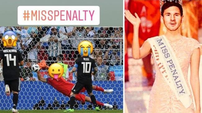 Messi thành chủ đề hot cho cộng đồng chế ảnh đá trượt penalty - 2