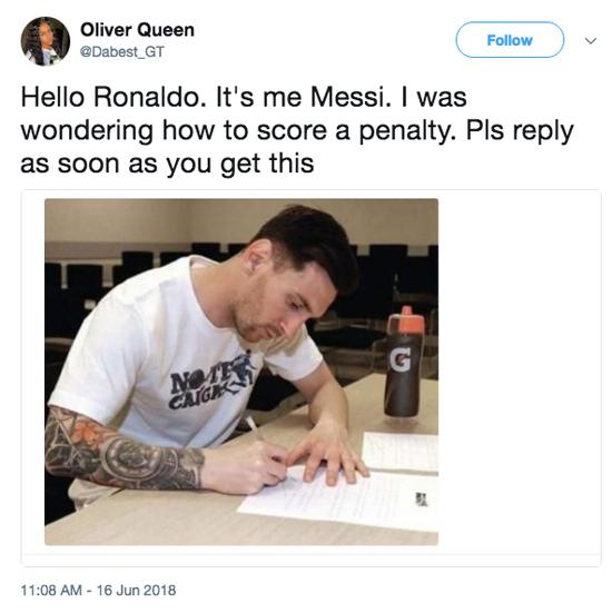Messi thành chủ đề hot cho cộng đồng chế ảnh đá trượt penalty