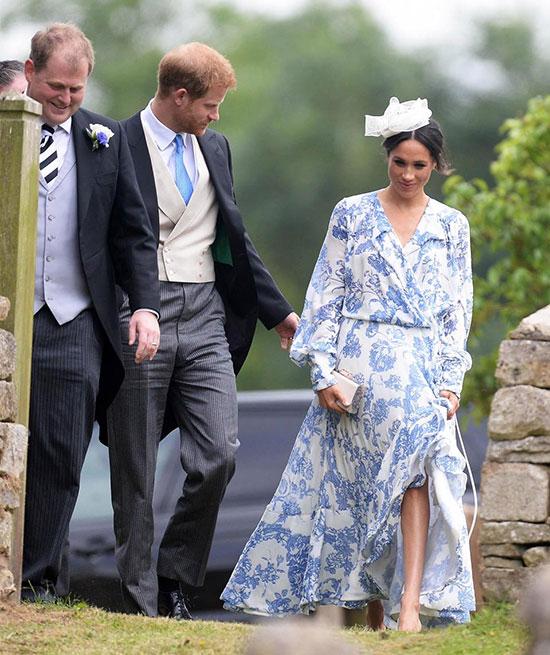 Vợ chồng Harry sánh đôi dự đám cưới của cháu Công nương Diana