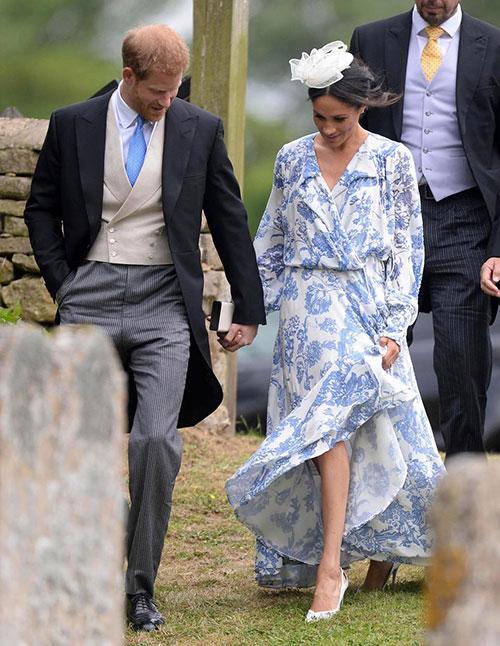 Vợ chồng Harry sánh đôi dự đám cưới của cháu Công nương Diana - 3