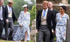 Vợ chồng Harry dự đám cưới cháu gái Công nương Diana