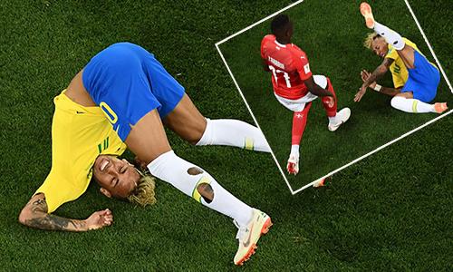 Neymar bị phạm lỗi nhiều nhất ở World Cup trong 20 năm qua
