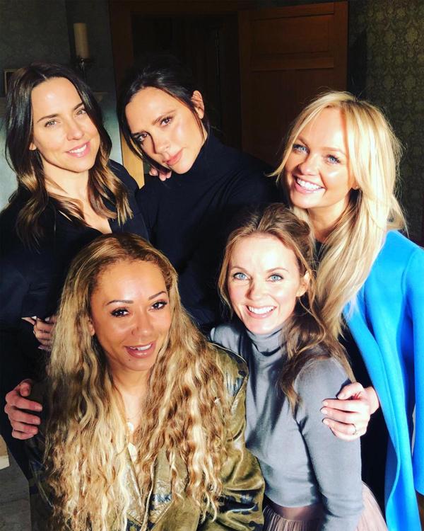 Spice Girls trong cuộc hội ngộ hôm 2/2.