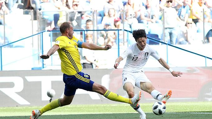 Hàn Quốc chơi dồn ép Thuỵ Điển trong những phút đầu tiên. Ảnh: FIFA