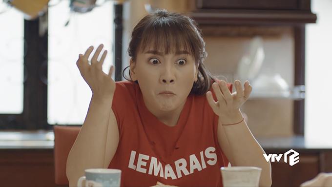 Một cảnh quay của Bảo Thanh trong tập 4 Ngày ấy mình đã yêu.