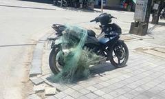 Cảnh sát Thanh Hóa bắn lưới bắt người vi phạm giao thông