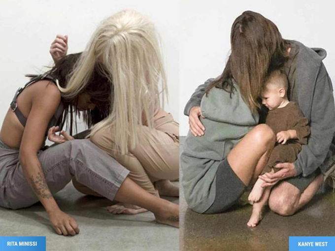 Những bức ảnh có nhiều điểm tương đồng.