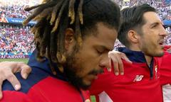 Đội trưởng tuyển Panama khiến các fan xúc động khi khóc trong lúc hát quốc ca
