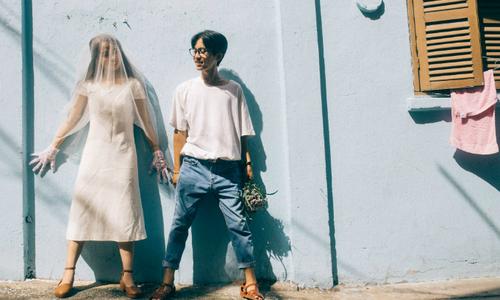 Bộ ảnh cưới 8 triệu đồng 'chất như phim Hong Kong'