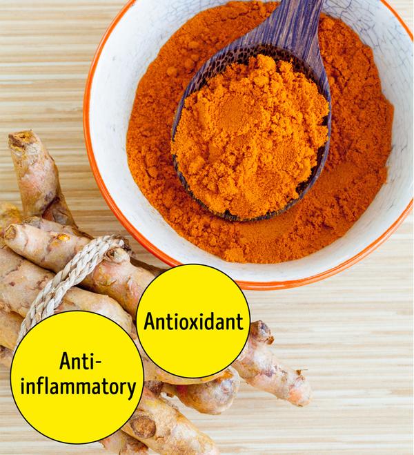 Bột nghệ được xếp vào hàng siêu thực phẩm giúp chống lão hóa cho da nhờ khả năng chống, viêm, ngăn ngừa tổn thương do oxy hóa da và thậm chí là ung thư da.