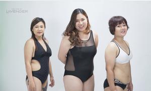 Phản ứng hài hước của những nàng béo lần đầu thử thách mặc bikini