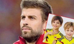 Hai con trai của Pique mặc áo cổ vũ tuyển Colombia