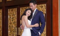 Mỹ nhân TVB bụng phẳng khi mặc váy cưới dù bầu 5 tháng