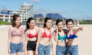 Người đẹp Hoa hậu Việt Nam diện bikini khoe dáng