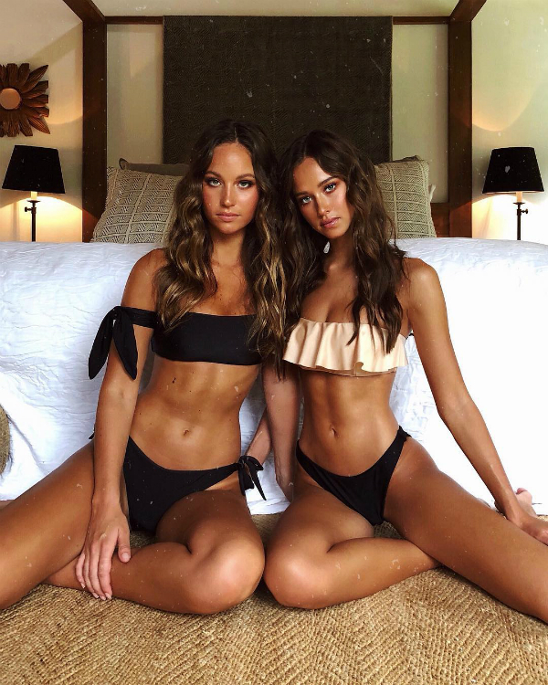 Olivia (trái) và Isabelle hiện là người mẫu của công ty Que Models tại Australia.