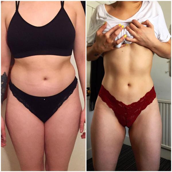 Cở thể Scarlett thay đổi rõ rệt sau 3 tháng tập luyện và ăn uống khoa học.