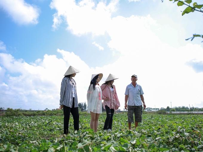 Sau đó, êkípcùng những người nông dân BắcBộ đi làm vườn hái dưa.