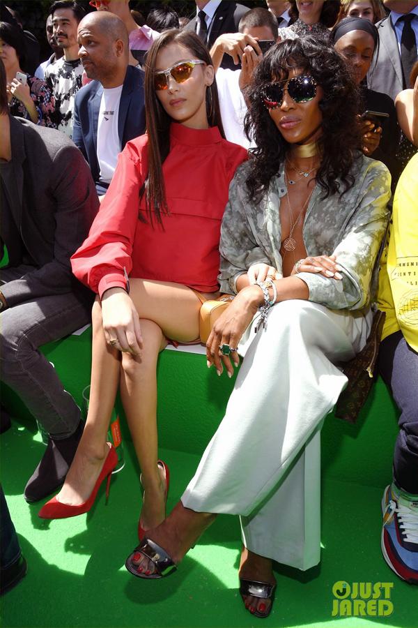 Dàn sao diện đồ bảy sắc cầu vồng ở show Louis Vuitton - 4