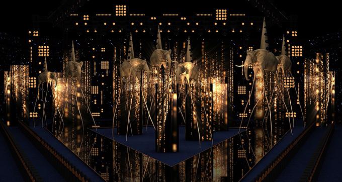 Ánh sáng trong show diễn Into The Dark đóng vai trò rất quan trọng. Nếu như trước đây, show thời trang thông thường sẽ là màn catwalk runway đơn thuần, nghĩa là người xem chỉ cần nhìn rõ mặt và quần áo của người mẫu là đủ. Thì show diễn đặc biệt lần này sẽ mang đậm dấu ấn của night-life party.