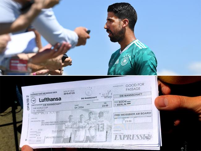 Phóng viên Thụy Điển tặng vé về nước cho Khedira