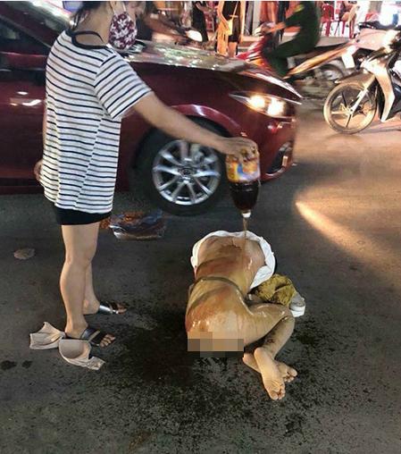Hiện trường vụ đánh ghen trên phố Cao Thắng đêm 12/6.