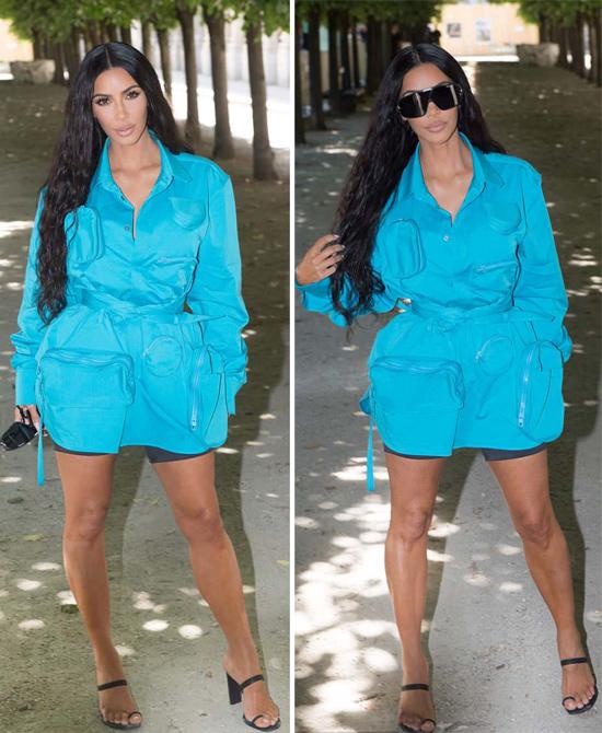 Sự xuất hiện của Kim gây chú ý mạnh mẽ với truyền thông và người hâm mộ ở Pháp bởi đây là lần đầu tiên cô trở lại sau 2 năm bị cướp tấn công. Tháng 10/2016, trong khi đến dự tuần lễ thời trang, Kim đã bị một nhóm cướp đột nhập vào phòng khách sạn, gí súng vào đầu và trói cô trong nhà tắm. Chúng cuỗm hết trang sức và ví tiền, điện thoại của người đẹp với tổng giá trị khoảng 10 triệu USD. Quá hoảng loạn, Kim được đưa về Mỹ ngay lập tức và phải mất một thời gian dài điều trị tâm lý cô mới vượt qua cú sốc này.