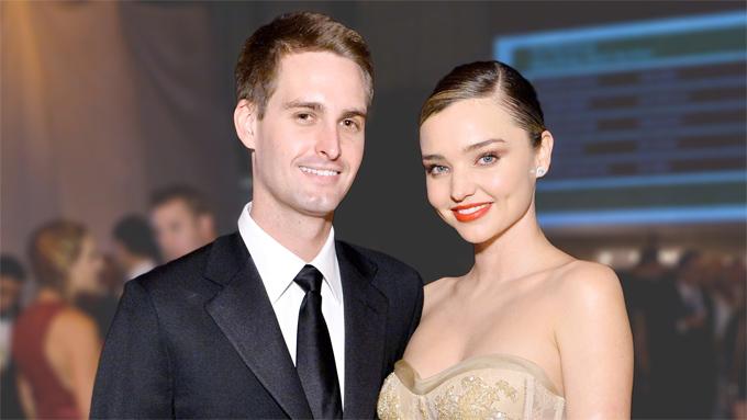 Vợ chồng Evan Spiegel và Miranda Kerr.