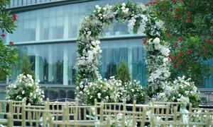 Lễ cưới ngoài trời 'chơi trội' với 1.000 cành hoa lan hồ điệp