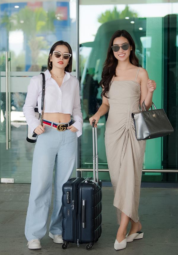 Chi Pu đọ vẻ sành điệu với Đỗ Mỹ Linh ở sân bay - 3