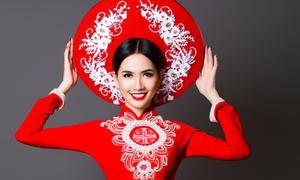 Phan Thị Mơ tái xuất, duyên dáng với áo dài cưới tông trắng, đỏ