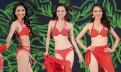 Thí sinh Hoa hậu Việt Nam khoe dáng với bikini