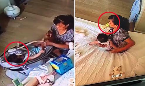Giúp việc đánh vào mặt, uống trộm sữa của bé 6 tháng tuổi