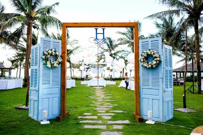 Đám cưới xanh baby đẹp như giấc mơ bên biển Hội An - 11