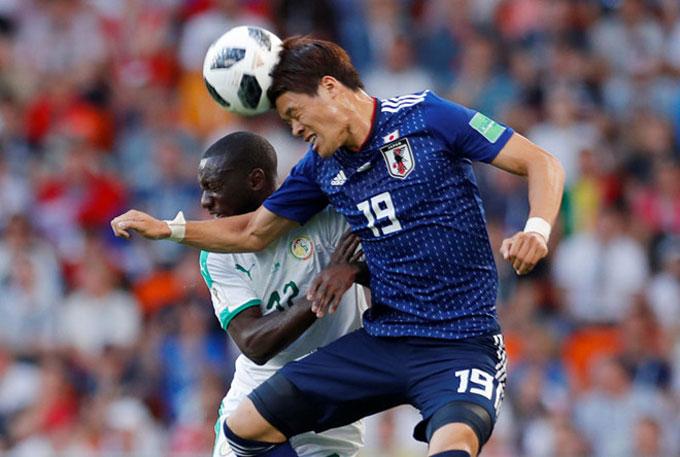 Nhật Bản không thua kém  đối thủ châu Phi. Ảnh: AP.
