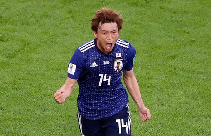 Takashi Inui chơi xuất sắc với một bàn thắng. Ảnh: AP.