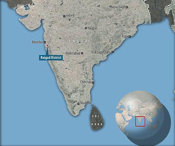 Vị trí nơi xảy ra án mạng gần thành phố Mumbai. Ảnh: Google Map.
